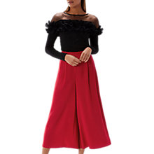 Buy Coast Gilly Cropped Wide Leg Trousers, Red Online at johnlewis.com