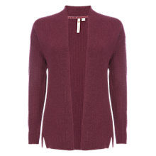 Buy White Stuff Cut About Rib Cardigan, Purple Online at johnlewis.com