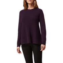 Buy L.K. Bennett Alma Wool and Cashmere Blend Ribbed Jumper, Purple Online at johnlewis.com