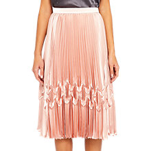 Buy Ted Baker Crimsan Zigzag Detail Pleated Midi Skirt Online at johnlewis.com