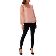 Buy Coast Milani Metallic Blouse, Pink Online at johnlewis.com
