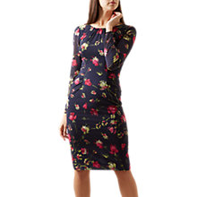 Buy Hobbs Rori Tulip Print Dress, Navy/Multi Online at johnlewis.com