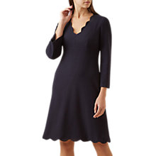 Buy Hobbs Scarlett Dress, Navy Online at johnlewis.com