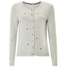 Buy White Stuff Art Spot Cardigan, Grey Marl Online at johnlewis.com