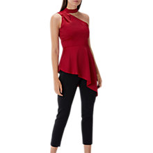 Buy Coast Sasha One Shoulder Top, Red Online at johnlewis.com