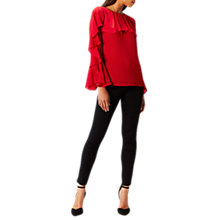 Buy Coast Jessie Ruffle Top, Red Online at johnlewis.com