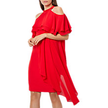 Buy Coast Inez Ruffle Shift Dress, Red Online at johnlewis.com