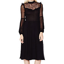 Buy Ghost Cora Lace Panel Dress, Black Online at johnlewis.com
