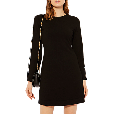 Product photo of Karen millen cut out knitted aline dress black multi