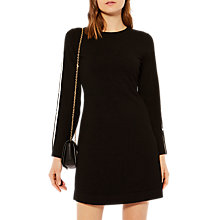 Buy Karen Millen Cut Out Knitted A-Line Dress, Black/Multi Online at johnlewis.com