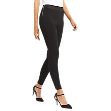 Buy Oasis Side Zip Leggings, Black Online at johnlewis.com
