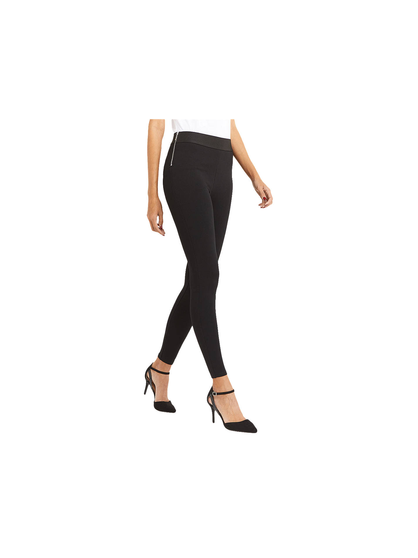 501d68ba12608d Buy Oasis Side Zip Leggings, Black, XS Online at johnlewis.com ...