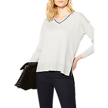 Buy Karen Millen Cold Shoulder Jumper, Grey/Multi Online at johnlewis.com