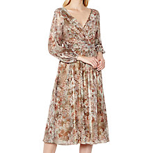 Buy Ghost Connie Dress, Gold Fold Online at johnlewis.com