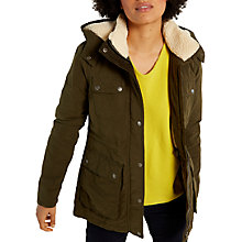 Buy White Stuff Colliford Parka Coat, Khaki Online at johnlewis.com