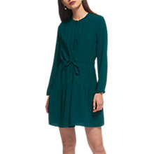 Buy Whistles Cynthia Tie Waist Dress, Green Online at johnlewis.com