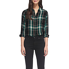 Buy Whistles Emelia Check Shirt, Green/Multi Online at johnlewis.com