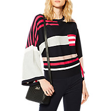 Buy Karen Millen Colourblock Kimono Jumper, Multi Online at johnlewis.com
