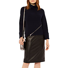 Buy Karen Millen Chunky Zip Rib Jumper Online at johnlewis.com