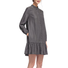Buy Whistles Dropped Hem Shirt Dress, Grey Online at johnlewis.com