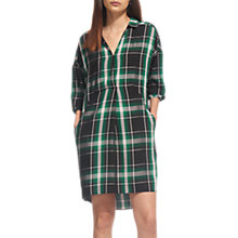 Buy Whistles Lola Check Dress, Green/Multi Online at johnlewis.com