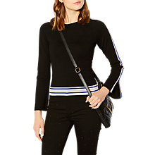 Buy Karen Millen Striped Jumper, Black/Multi Online at johnlewis.com