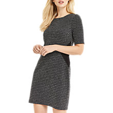 Buy Oasis Tweed Shift Dress, Mid Grey Online at johnlewis.com