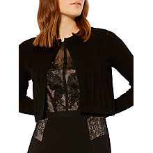 Buy Karen Millen Pointelle Knit Cardigan, Black Online at johnlewis.com