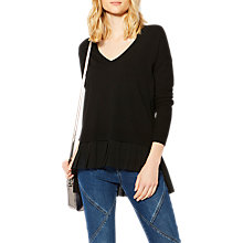 Buy Karen Millen Contrast Panelled Jumper, Black Online at johnlewis.com