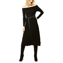 Buy Karen Millen Knitted Bardot Dress, Black Online at johnlewis.com