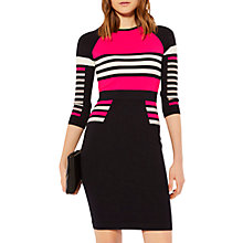 Buy Karen Millen Stripe Block Knit Jumper Dress, Multi Online at johnlewis.com