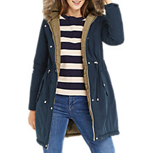 Buy Oasis Remi Reversible Parka Coat, Multi Online at johnlewis.com