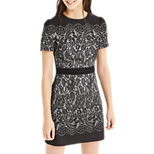 Buy Oasis NTU Lace Shift Dress, Multi/Black Online at johnlewis.com