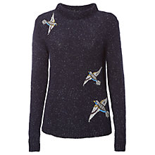 Buy White Stuff Beady Bird Jumper, Navy Online at johnlewis.com