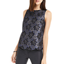 Buy Oasis NTU Jacquard Scallop Shell Top, Multi Online at johnlewis.com