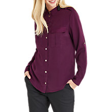 Buy Oasis Soft Utility Shirt, Purple Online at johnlewis.com