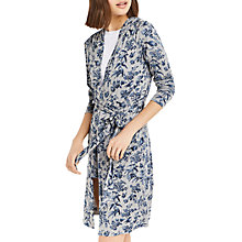 Buy Oasis Floral Printed Robe, Multi/Grey Online at johnlewis.com