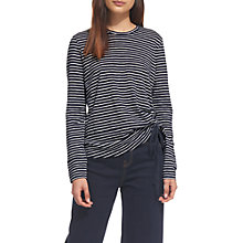 Buy Whistles Gathered Side Striped T-Shirt, Multi Online at johnlewis.com