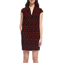 Buy Whistles Paige Eclipse Print Dress, Red/Multi Online at johnlewis.com