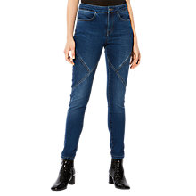 Buy Karen Millen Sporty Seam Leggings, Denim Online at johnlewis.com