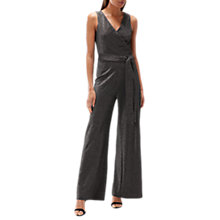 Buy Coast Shaunie Metallic Jumpsuit, Silver Online at johnlewis.com