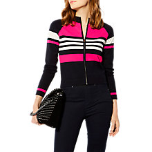 Buy Karen Millen Zip-Up Stripe Cardigan, Multi Online at johnlewis.com