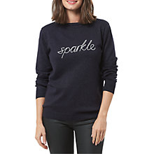 Buy Sugarhill Boutique Rita Chainstitch Jumper, Navy/Sparkle Online at johnlewis.com