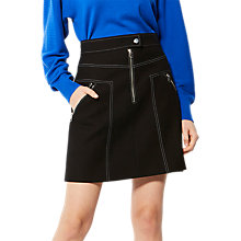Buy Karen Millen Exposed Zip Skirt, Black Online at johnlewis.com
