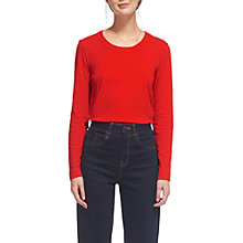 Buy Whistles Rosa Double Trim Top, Red Online at johnlewis.com