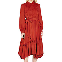 Buy Ghost Luna Long Sleeve Dress, Russet Online at johnlewis.com