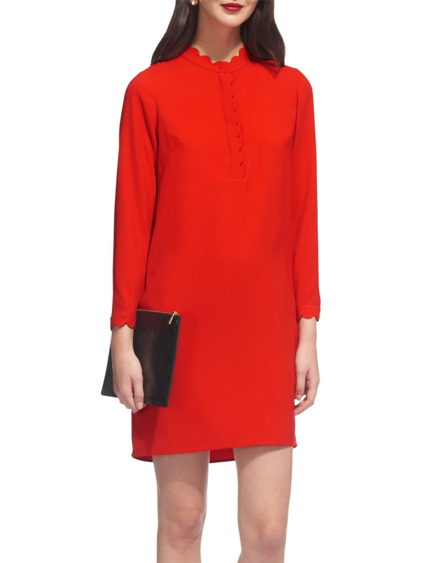 887afc8f Whistles Scalloped Collar Crepe Dress at John Lewis & Partners