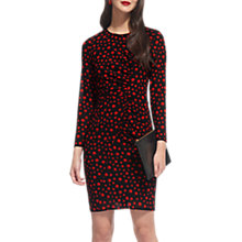 Buy Whistles Maria Eclipse Print Silk Blend Dress, Red/Multi Online at johnlewis.com