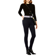 Buy Karen Millen Striped Knitted Cardigan, Black/Multi Online at johnlewis.com