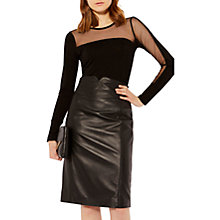 Buy Karen Millen Asymmetric Mesh Top, Black Online at johnlewis.com